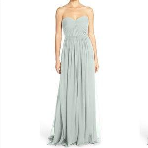 Jenny Yoo Mira Convertible Strapless Dress sz 10